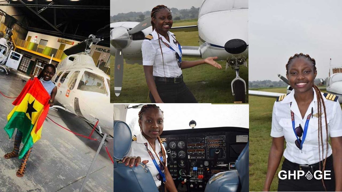EHhFHtjUcAAOnJX - Audrey Maame Esi Swatson is the youngest Ghanaian female pilot who has obtained a commercial license.Audrey Swatson who was born on...