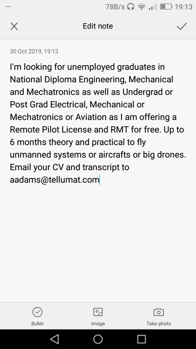 EIJILSrXYAAEIw9 2 - Unemployed Graduates wanted for Remote Pilot License and RMT for free. Please RT.This could be someones breakthrough. UnemploymentRate GraduatesJobSeekersSA GirlsTalkZA