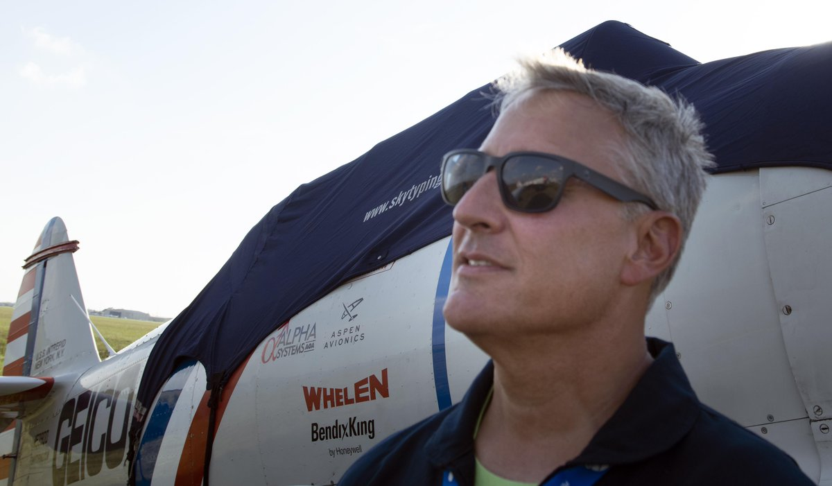 EIjPhD0XkAsODiu - Is it aviation history A Geico Skytyping Air Show Team member with more than 18,000 hours of flight time since he got his private pilots license at 17, will fly the powerfully built warbird at the 38th Florida International Air Show during performances