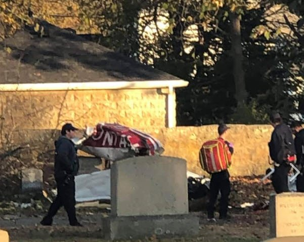 EIjtvx4XsAEznNo - Update - Police in possession of private pilot license for ID. No further info 356PMCoordinating and Command Post Grape St. A person has come forward with video of crash. NB Live Photos