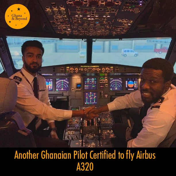 EIoyyUXX0AEgRmE - Bismarck Antwi-Danso, has become the second Ghanaian to be certified as an Airbus A320 pilot after completing his license skill test.Read More GhanaAndBeyond Airbus Airport Flight Pilot Ghanaian