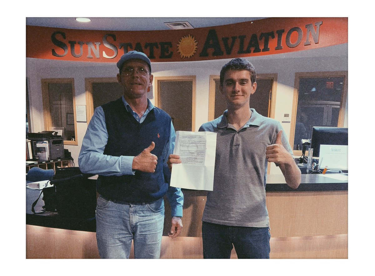 EJ2pZ lWwAUwxin - Congrats to Jared on recently passing his commercialpilot CPL checkride Were proud to say that Jared obtained his Private Pilot, Instrument Rating, amp Commercial Pilot License with usThis could YOU Come fly with ussunstateaviation flightschool flighttraining