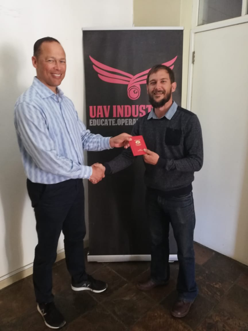EJK6pi3X0AA6eiE - Congratulations to Carel Venter for obtaining his Remote Pilot License from the through UAV Industries Flight School. Learn more about becoming a commercial drone pilot TechTuesday flyuavi dronepilot TuesdayTraining