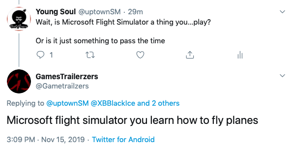 EJcb5k X0AMOzEx - You said playing Microsoft FedEx Air, you could learn how to fly planes...Unless it officially gets you closer to a pilot license like GT Sport actually does with a racing licensethen no FedEx Air does not help you learn anything