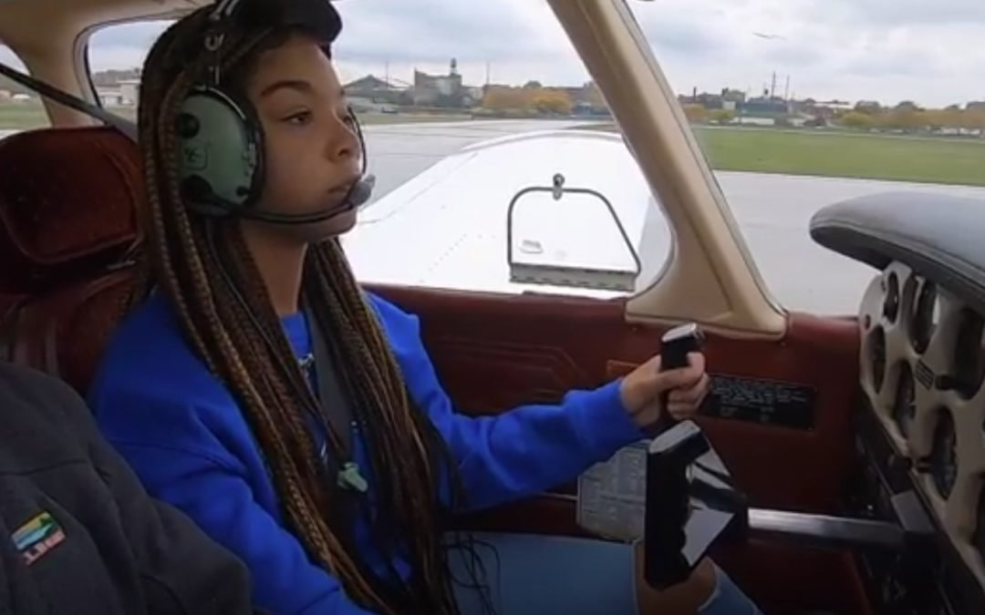 EJdYaZhXkAAArr  - Sydney-Marie Flowers, a STEM student from Cleveland, is only 16 but already will be fully set to become a licensed private pilot this year even though she doesnt even have her drivers license yet.