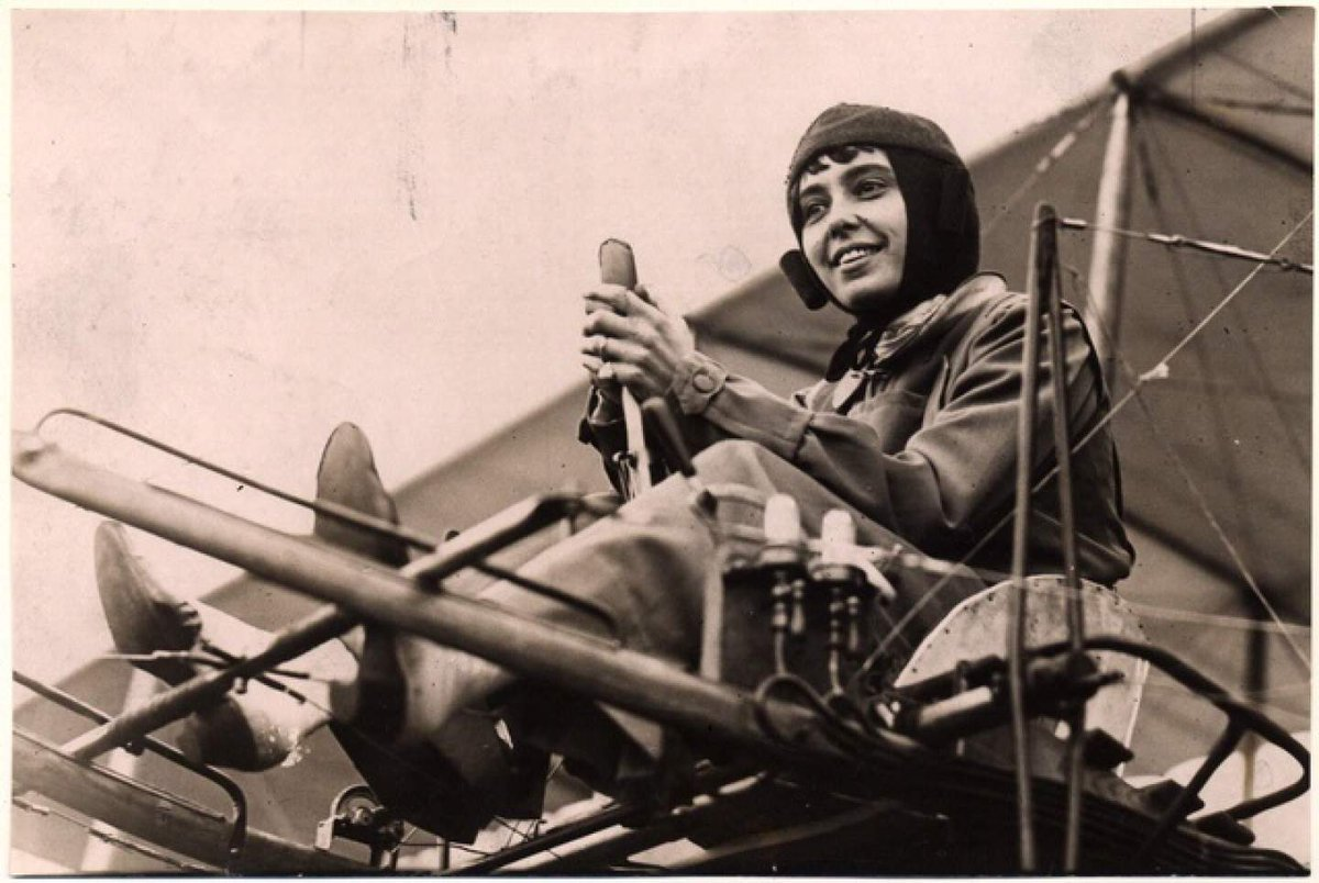 EKQdQ0NWwAEjdmo 1 - Today in 1910 Helene Dutrieu became the first Belgian woman to receive a pilots license. She was known as the girl hawk of aviation because she was the most daring and accomplished woman pilot of her time