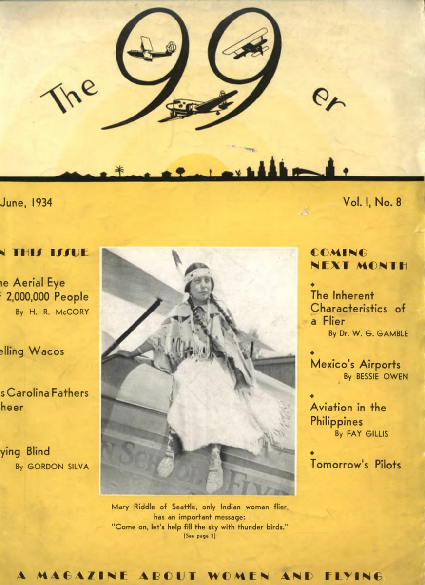 EKpJNu2WwAA9oBO - Mary Riddle was the first female member of a NativeAmerican tribe to earn her pilots license, and later her commercial license. More Native American women aviation pioneers NativeAmericanHeritageMonth