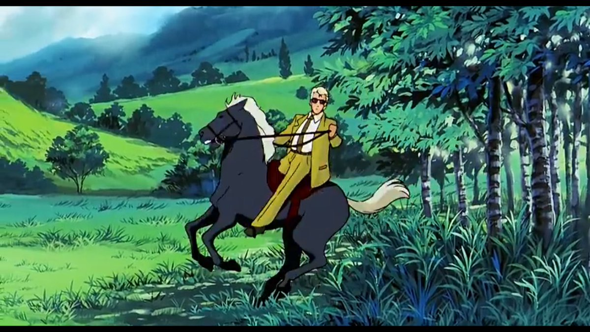 D WESOWX4AAzn D - If you ever feel bad you cant get your drivers license, Chars riding a horse because he cant drive despite being an ace pilot of literally any military vehicle