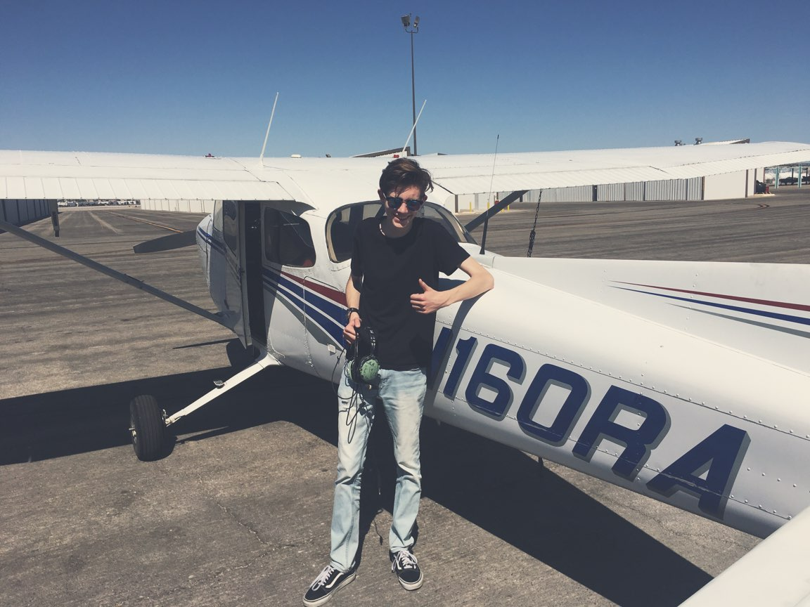 Deq1yh9VMAAERlq - My son has been obsessed with aviation since he was a toddler, he always said he was going to be a pilot. After thousands amp thousands of hours on a professional flight simulator since he was 10. Today he started his dream of getting his pilots license. topgunson Proudfather