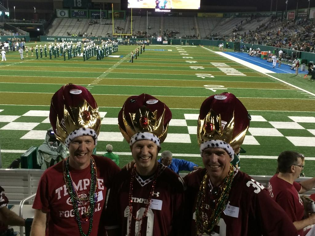 EKu hLRW4AIf9Hx 1 - Happy Birthday to us On this date in 2014 we purchased the big hats on Bourbon St which we wore to the game vs. Tulane the next day. Over the next 5 years weve added capes, bling, Flavor-Flav clocks amp now we have a bus Whats next...maybe a pilots license Lets bowl