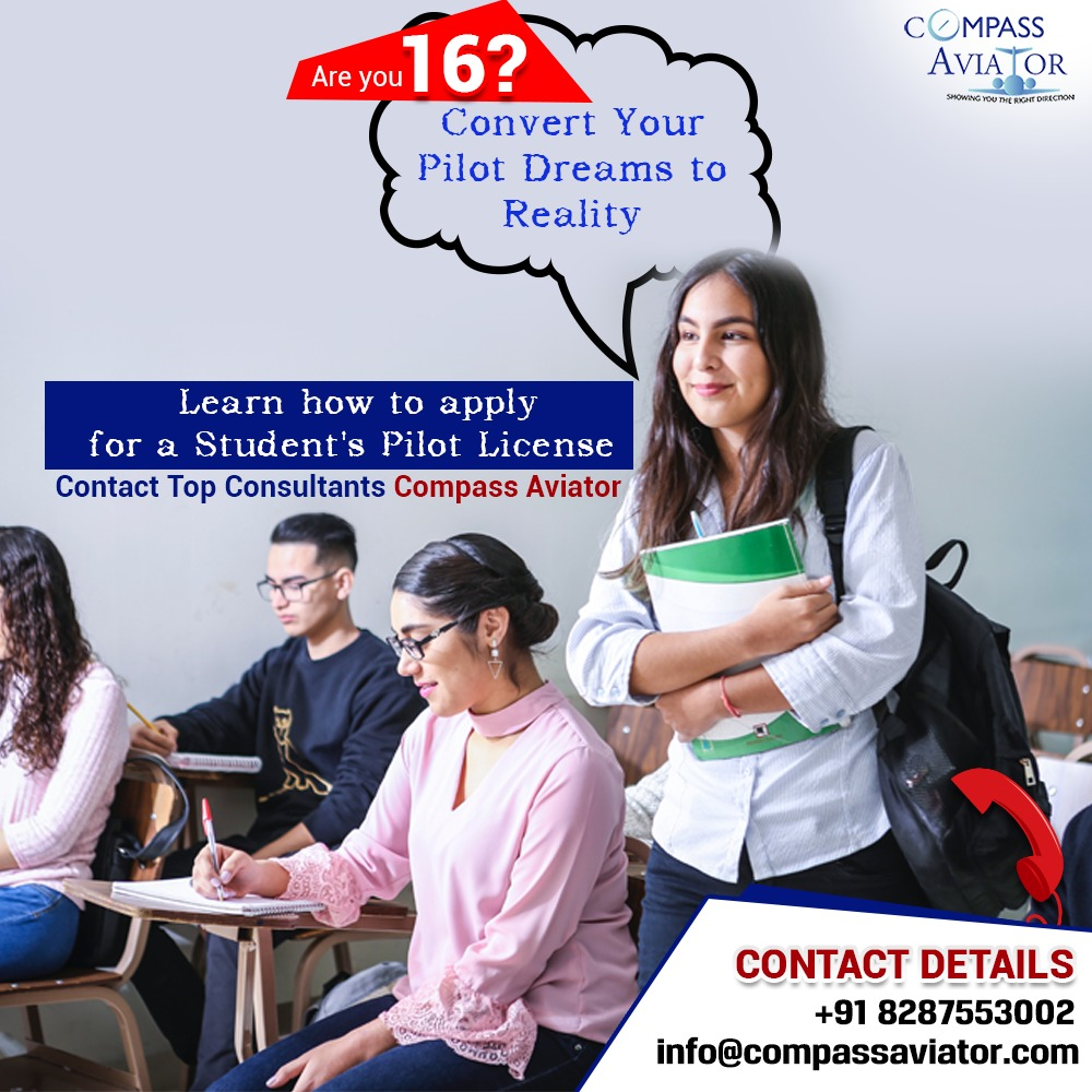 ELKAi1ZUYAAX4tl - Are you 16 Its Time to Convert Your Pilot Dreams to Reality. Learn how to apply for a Students Pilot License. Contact Top Consultants Compass AviatorVisit-Call-click for numberBestAviationconsultancyindelhi BestAviationconsultancyinIndia aviation