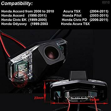 EMTTKigX0AEmC11 - 170 Reversing Vehicle-Specific Integrated in Number Plate Light License Rear View Backup Camera for Honda Accord Acura TSX Accord Pilot Civic EK Civic FD Odyssey Acura TSX HD Back Camera