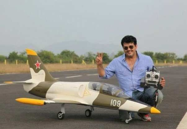 EMXNCNoVUAMLYQO - Thala is an extraordinary racer who has taken part in several bike and car race including Formula 2 race. He is also into aero-modelling and pursues this passion irrespective of it being costly. He also possesses a pilot license.ValimaiSpreadAJITHism