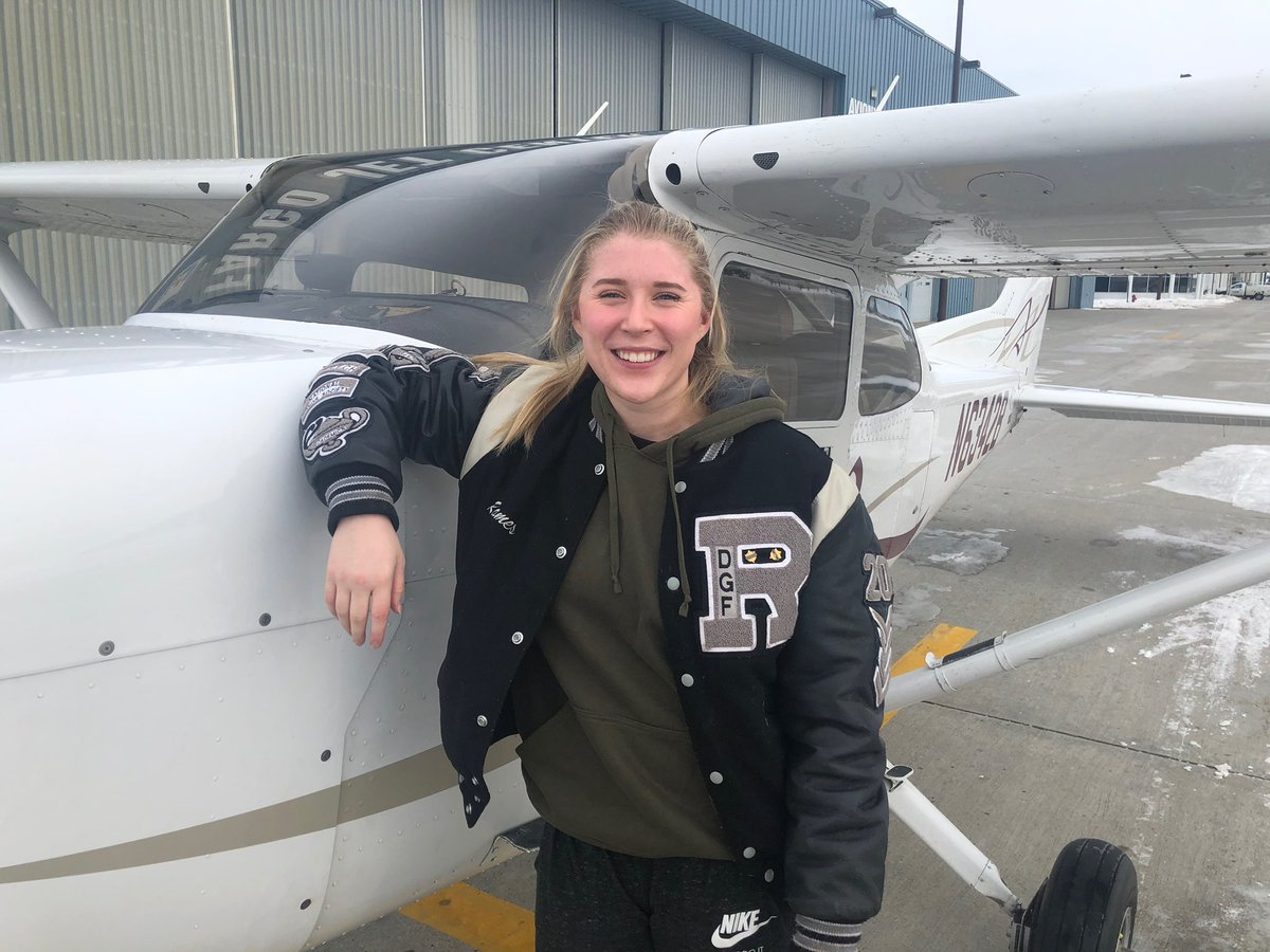 ENITprWXUAAyie4 - What better way to finish off the year than to celebrate our scholarship recipients Our 2019 recipient, Grace Rames, just completed her training for her private pilot license. We are so proud of you Grace