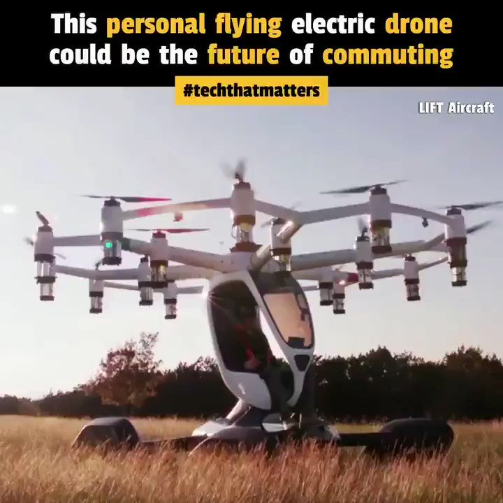 fu6z2SBpIx  miaZ - This is the Hexa electric aircraft by LIFTAircraft that you can fly without a pilots license for personal commuting. The VTOL drone has 18 electric motors, floats for a water landing, a parachute amp whole-aircraft airbag system. You can fly it with just 2 hours of training.