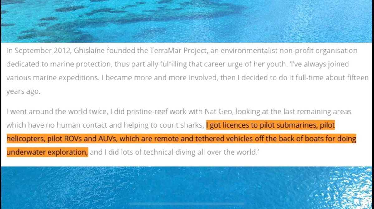 EHMP4Y5WoAMoB8r - Got Your Free Ocean Passport Yet Ghislaine Maxwell Got Hers amp Submarine Pilots License Too, Founded TerraMar Project In 2012...Curiouser amp Curiouser...