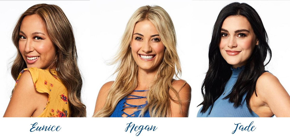 ENFMfWQX0AA9ysc - One week from tonight well be watching TheBachelor Peter will be dating 30 girls, amp 3 of them Eunice, Megan, amp Jade are flight attendantsInteresting facts Megans mom amp grandmother are both flight attendants. Jade is also working on getting her private pilots license.