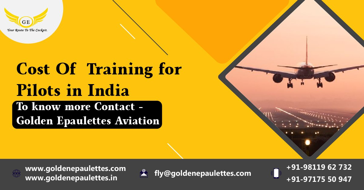 ENWw7jmVAAA1UvG - Cost of training for pilots in IndiaIt depends what kind of pilot training you are going to take. If you are looking for a private pilot license in a flight school, it will be cost according to your training.know more-Contact No click for number, click for number