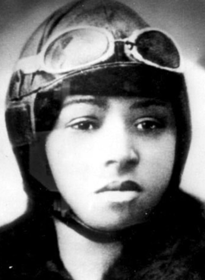 ENdI0mMW4AEaHQH - Skyward Saturday- Bessie Coleman was turned down for American Aviation school because of her race, so she learned French and went to school there instead. She became the first black woman to get her pilots license and to stage a public flight in the US.herstory aviation