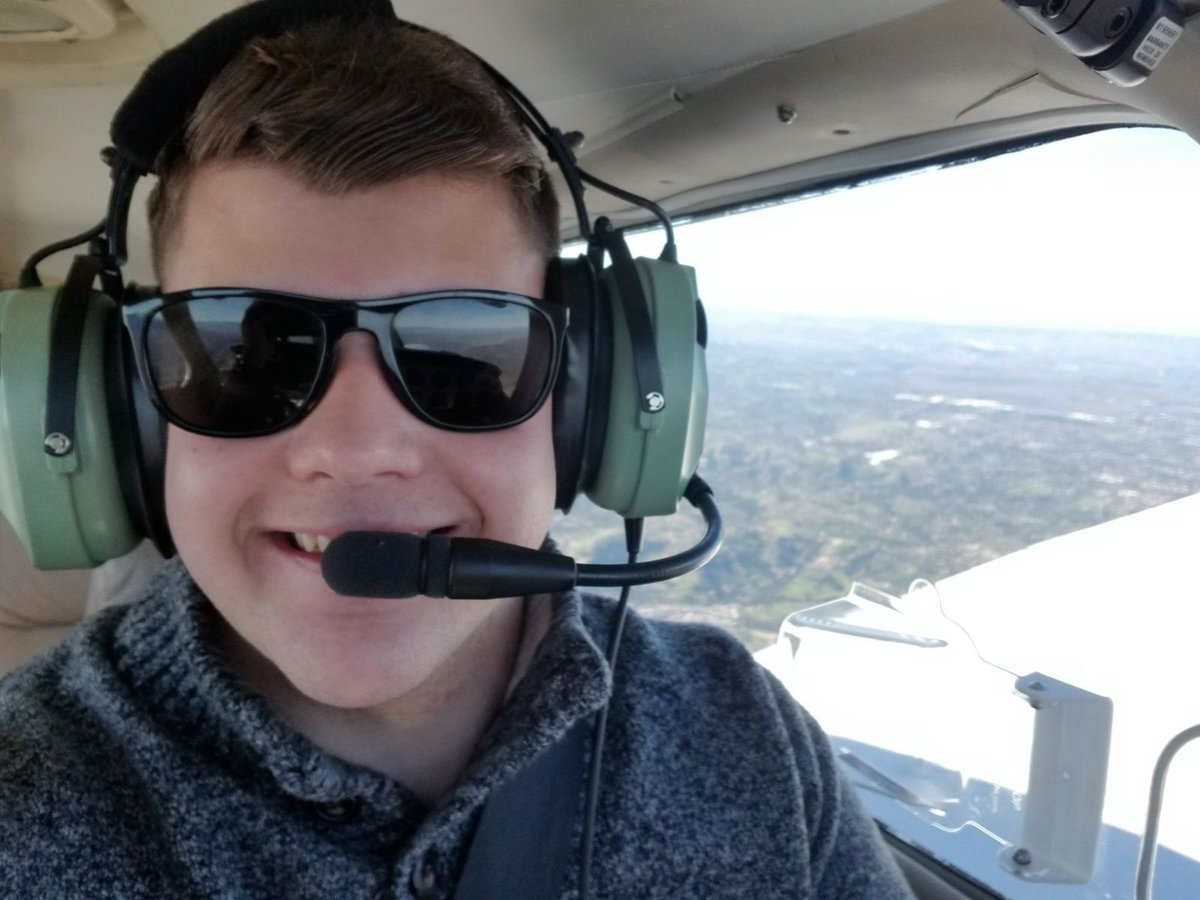 ENdZ qaXsAEhspH - So proud of my son Devin on completing his cross country solo on the way to earning his pilots license.