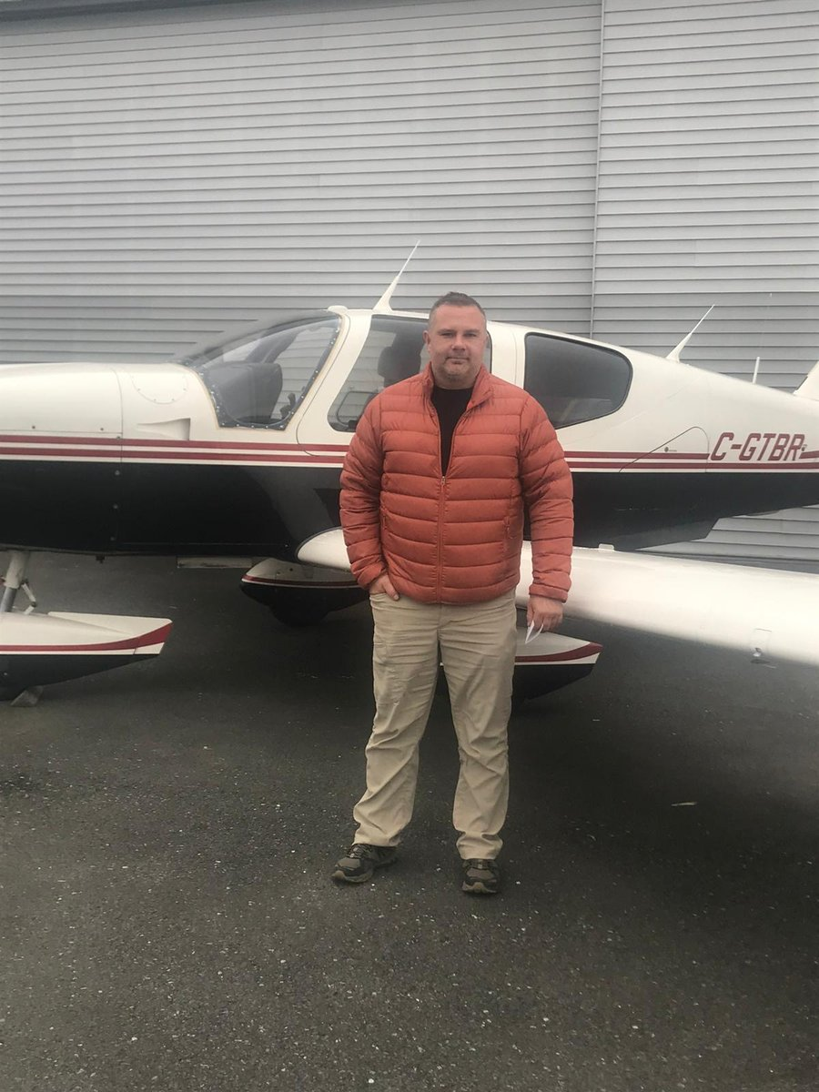 ENtCz7aX0AAgzDK - Congratulations Chris on getting your Private Pilot License and enjoy the privileges you get with it..pilotlife pilot piloteyes aviation pilotview instapilot lifeasapilot whyifly avgeekpilotstyle flightinstructor kamloops pittmeadows