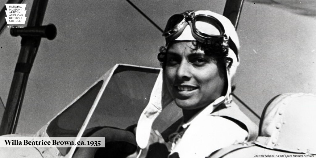 EO6Zex3WoAA66f7 2 - Willa Beatrice Brown-Chappell was the first African American woman to earn a pilots license in the United States. Born OTD in 1906, Brown-Chappell was a leader in the push to allow African American pilots in the armed forces. HiddenHerstory APeoplesJourney
