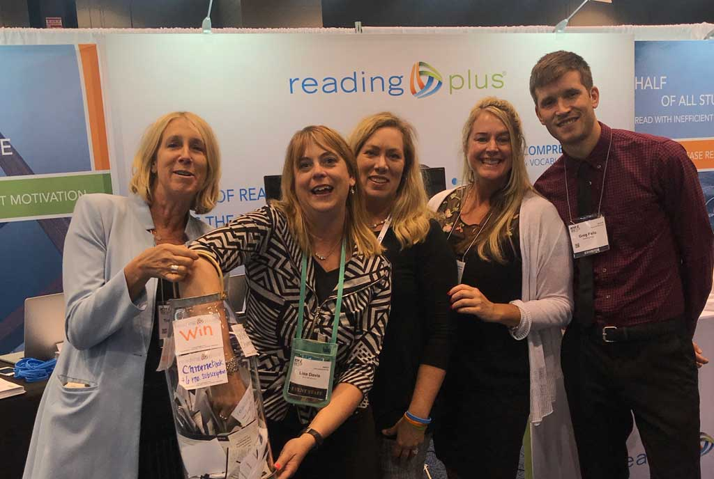 EOA0D VWoAIGyxH - Going to Come say hi to ReadingPlus and at booth 4322 and enter to win a free Apple iPad, CAPIT classroom license, and Reading Plus pilot. FETC2020 kidsreading edtech literacy readerinterest k12