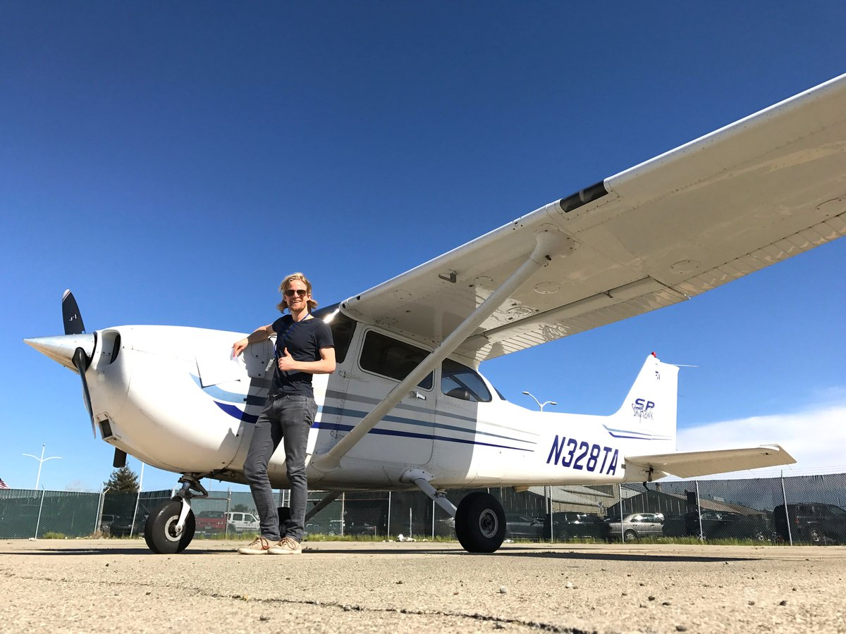 EPEMWafVUAAOTyJ 1 - WHEW After nearly 3.5 years, Ive FINALLY earned my private pilots license. A huge thanks to my instructors Jim and David, my examiner Richard, and of course, , , and everyone who ever watched an episode of Giant Bomb Flight Club. See you in the sky