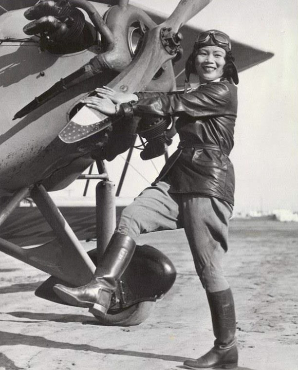 EPEvtelXsAEe3p  - KNOW HER NAMEKatherine Cheung became the first Asian-American woman to have earned her pilots license When she received it in 1932, only 1 of pilots were women. She was also friends with Amelia Earhart.