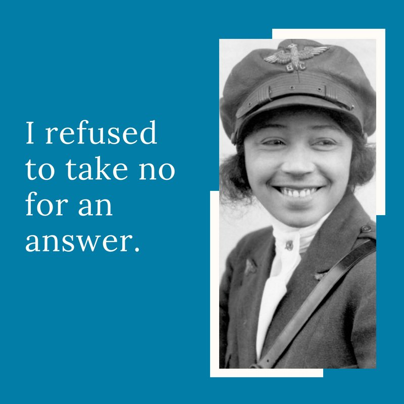EPMSZZlWoAEN69M - 26.1.1892 American aviator Bessie Coleman was born OTD She was the 1st woman of African-American amp Native American heritage to hold a pilot license amp one of the 1st women to hold an international pilot license WomenPioneers HiddenWomen WomensHistory BlackWomensHistory