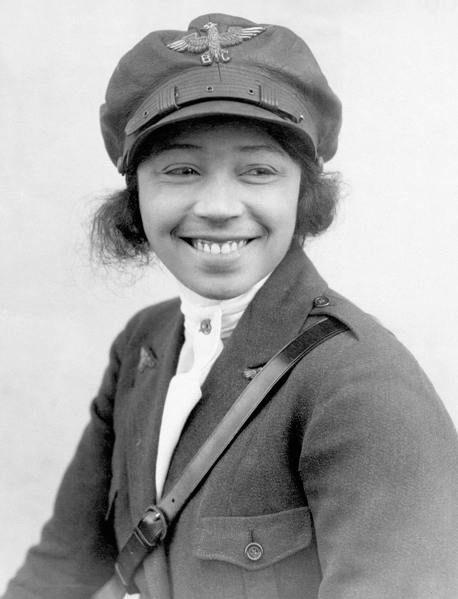 EPOlwO8X4AECwyb 1 - Happy 128th birthday to Bessie Coleman, the first woman of African-American and Native-American descent to earn a pilots license. Aviator, stuntwoman, and international star, Brave Bessie is one of the most prominent African Americans in aviation history.