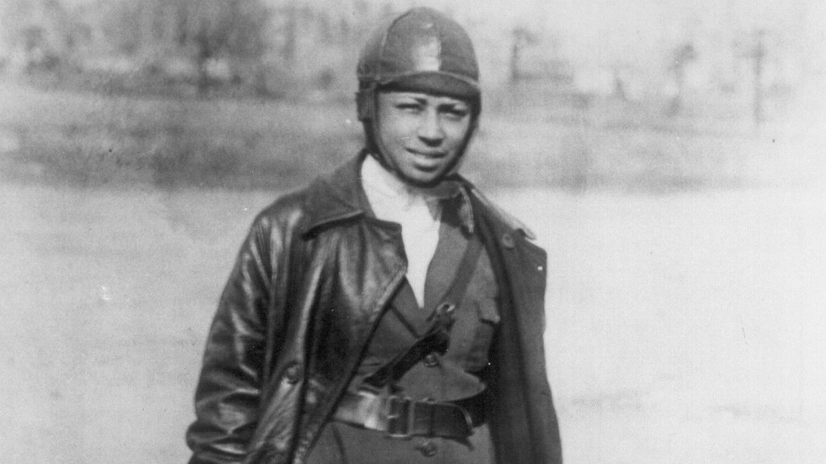 EPTBTubWoAA67c1 - Meet Bessie Coleman, first African American female pilot. She received her international pilots license on June 15, 1921 from the Fdration Aronautique Internationale. In 1922, she performed the first public flight by an African American woman.info