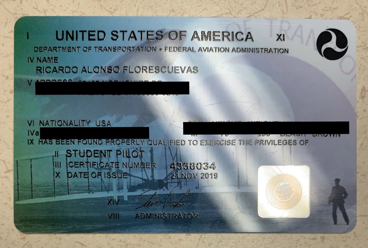 EPnzyXQVAAAm qb - My student flying licensefinally came in the mail. Almost an official Pilot... this is sort of like a drivers permit until the real one comes in