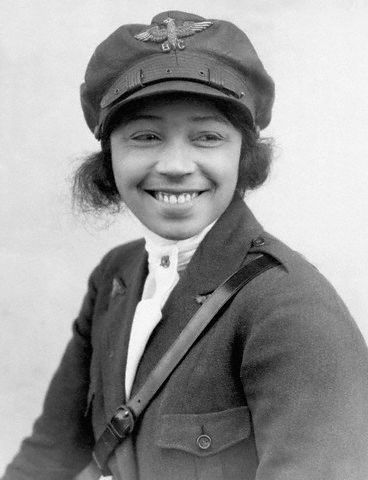 EPoPFRvXUAEHEKP - Bessie Coleman in 1921 she received her pilots license, making her the first licensed AA female civilian pilot.