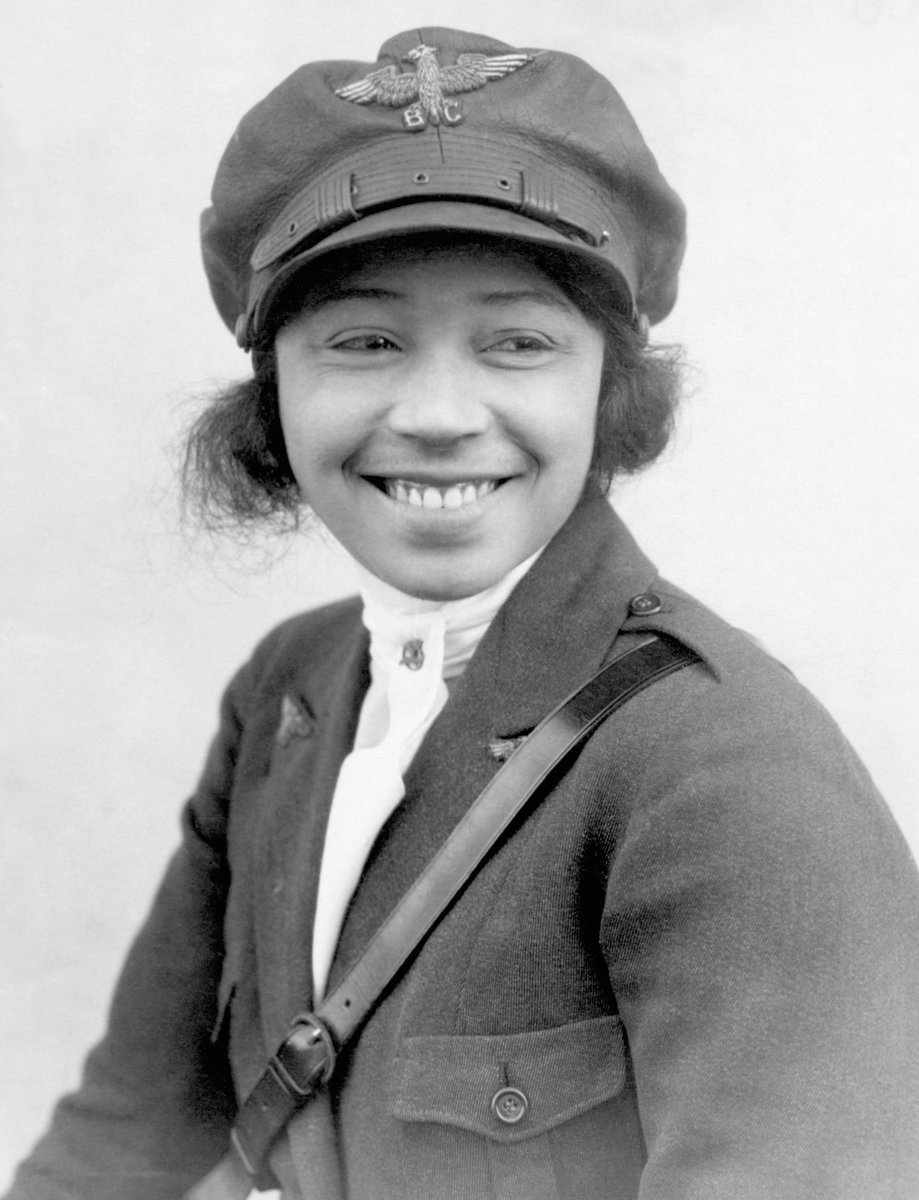 EPx XwVWsAE xHK - Bessie Coleman was the first African-American and the Native-American to hold a pilot license.